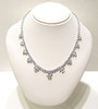 Aileen Rounds with Pears & Marquise Drop CZ Necklace, 35.0 Ct TW