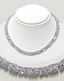 Pamela Designer Inspired Cubic Zirconia Necklace, 80.5 Ct TW