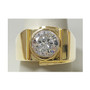 Gregory Round 2.0 Carat Bezel Set Men's Cubic Zirconia Ring