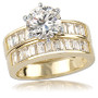 Cynthia Baguette CZ Wedding or Anniversary Band, 1.25 Ct TW