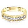 Nina Channel Set Round Cubic Zirconia Wedding Band