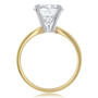 Yellow oval cubic zirconia solitaire ring