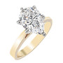 Pear Cubic Zirconia Cathedral Solitaire Engagement Ring