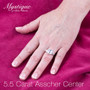 Asscher Cut CZ Double Baguette Solitaire Engagement Ring