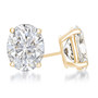 Oval Cubic Zirconia Earring Stud in 14K white gold