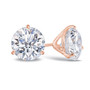 14K rose gold cubic zirconia martini stud earring