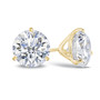 14K yellow gold cubic zirconia round martini stud earring