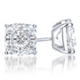 Cushion Cut Cubic Zirconia Stud Earrings