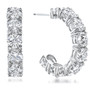 Sarah Large Prong Set Round Cubic Zirconia Hoop Earrings