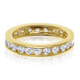 Channel Set Round CZ Eternity Band