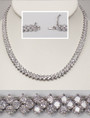 Tallulah Three Row Rounds Cubic Zirconia Collar Necklace