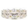 Lucinda Cubic Zirconia Five Stone Ovals Anniversary Band