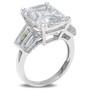Emerald Cut or Radiant Cut Triple Baguette Solitaire Ring