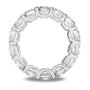 "Unity Rounds ""U"" Prong Swoop Setting CZ Eternity Band"