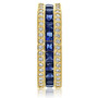 Giselle Triple Row Rounds & Princess Cut CZ Eternity Band