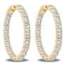 Marielle Vault Lock Inside Out Rounds CZ Earring Hoops, 9.6 Carats Total