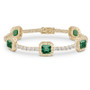 Naples Asscher with Rounds Halo Link CZ Bracelet