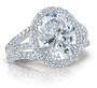 SALE - 3.5 Carat Oval Madeline Halo CZ Ring