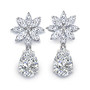 Marquise Snowflake with Pear CZ Drop Earrings