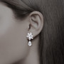 Marquise & Pear CZ Snowflake with Pear Drop Earrings