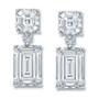 Melissa Asscher and Emerald Cut Drop CZ Earrings