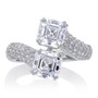 Katya Asscher with Pave Cubic Zirconia Bypass Ring