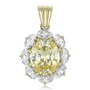 Ontario Oval with Ovals Cubic Zirconia Cluster Pendant