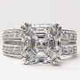 Adelle Asscher Open Pave Band CZ Engagement Ring