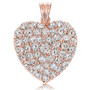 Marie Large Pave Cubic Zirconia Rounds Heart Pendant