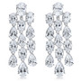 Avonleigh CZ Ovals and Pears Chandelier Drop Earrings