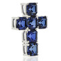Crissy Lab Created Sapphire Asscher Cross Pendant, 4.5 Ct TW