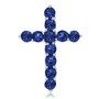 Lab Created Sapphire Designer Inspired Cross Pendant, 0.50 Ct TW