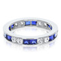 Elise Square and Round Channel Set Eternity Band