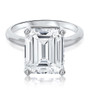 Molly Emerald Cut with Basket Head Solitaire Engagement Ring