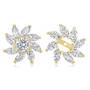 Pinwheel Cubic Zirconia Halo Earring Jacket Enhancers