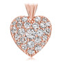 Marie Small Pave Cubic Zirconia Rounds Heart Pendant