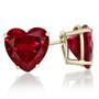 Heart Shape Lab Created Ruby Stud Earrings