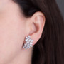 Cassandra Large Pear & Marquise Cluster CZ Earrings with Non Pierced Clips