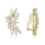 Cassandra Pear & Marquise Cluster CZ Earrings with Non Pierced Clips