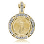 Liberty Channel Set Rounds Coinframe Pendant with 1/10 OZ Coin
