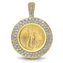 Freedom Pave Rounds Coinframe Pendant with 1/4 Ounce Coin