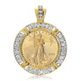 Liberty Channel Set Rounds Coinframe Pendant with 1/2 OZ Coin