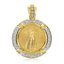 Liberty Channel Set Rounds Coinframe Pendant with 1/4 OZ Coin