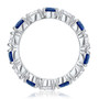 Round Prong Set Cubic Zirconia Eternity Band with Color Stones