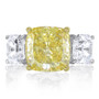Flagler Cubic Zirconia Cushion Cut with Asschers Three Stone Ring