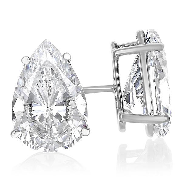Pear Cubic Zirconia Stud Earrings