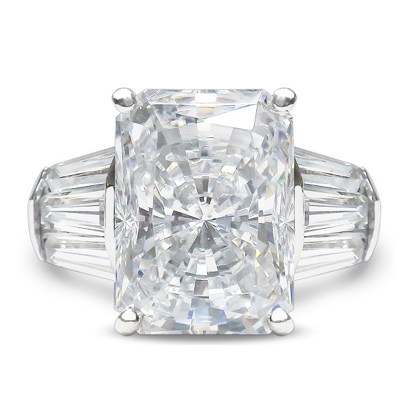 f90dbb1df9549 Emerald Cut or Radiant Cut Triple Baguette Solitaire Ring