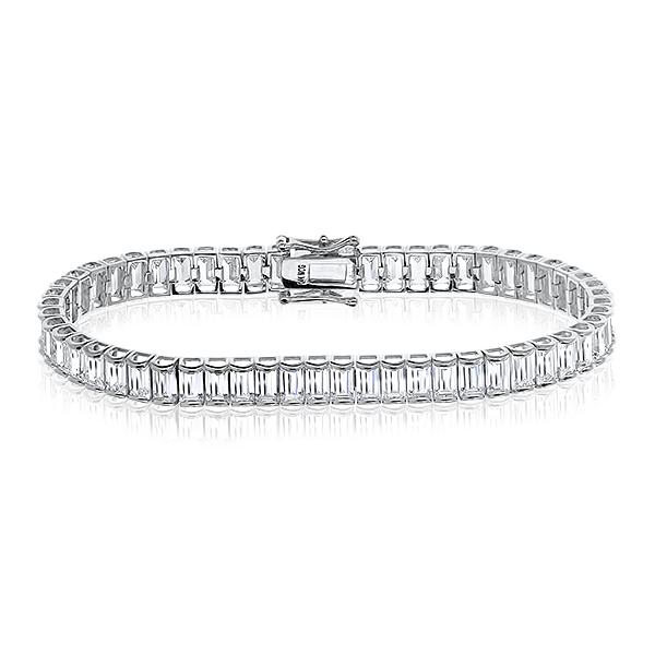 Beatrix Channel Set Cubic Zirconia Baguette Bracelet