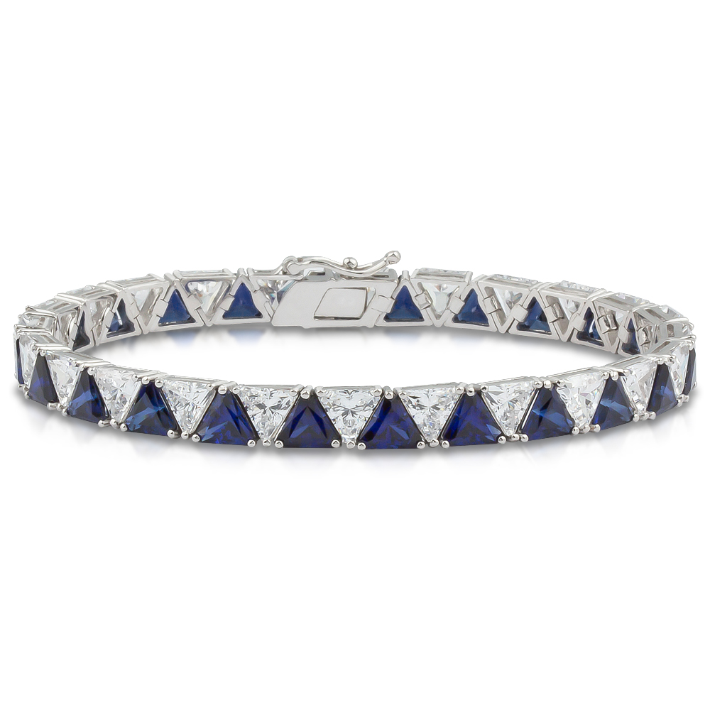 Largo Trillion Cubic Zirconia Tennis Bracelet