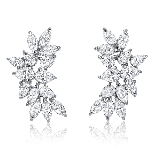 Cassandra Small Pear & Marquise Cluster CZ Earrings